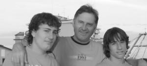 Teambild Michael, Erich und André